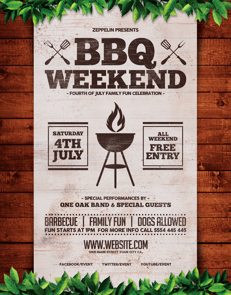 Barbecue Weekend Flyer Template