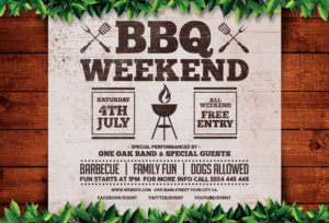 Barbecue Weekend Horizontal Flyer Template