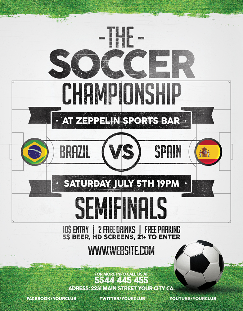 Brazil Soccer World Cup 2014 Flyer Template
