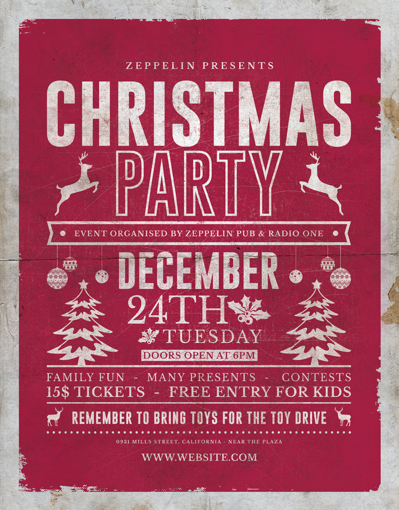 Christmas Flyer Template 1 Vol 2