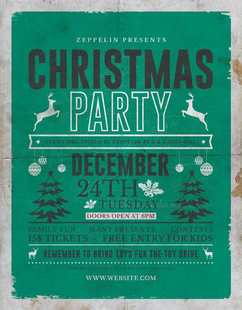 Christmas Flyer Template 3 Vol 2