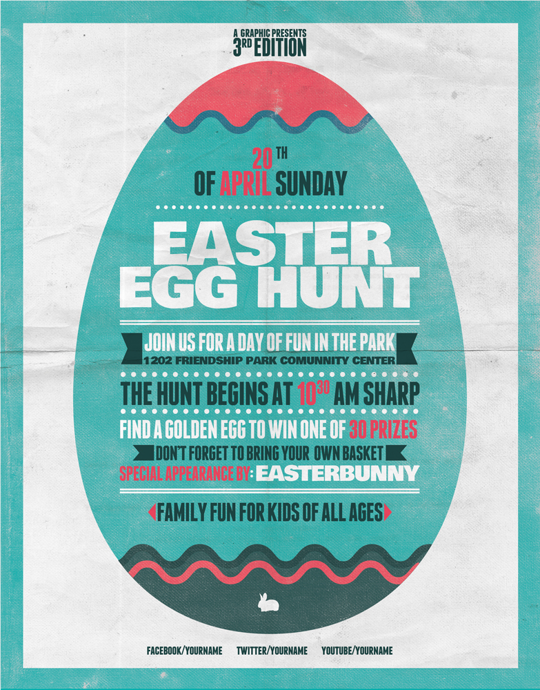 Egg Hunt Flyer Template version 1