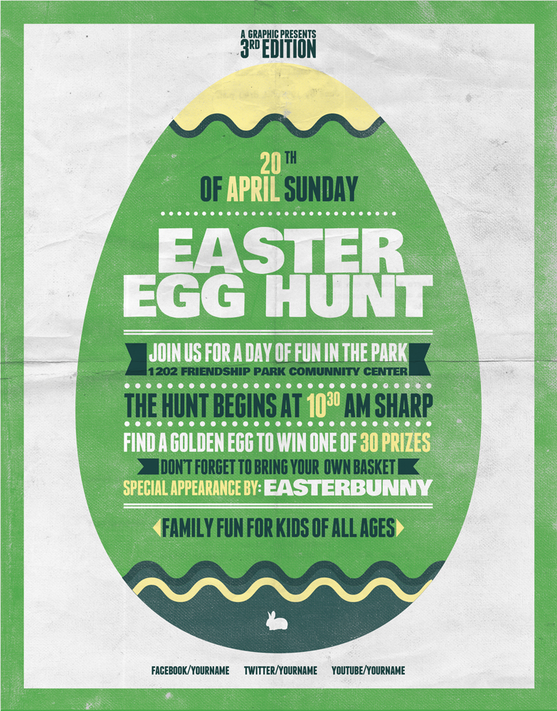 Egg Hunt Flyer Template version 2