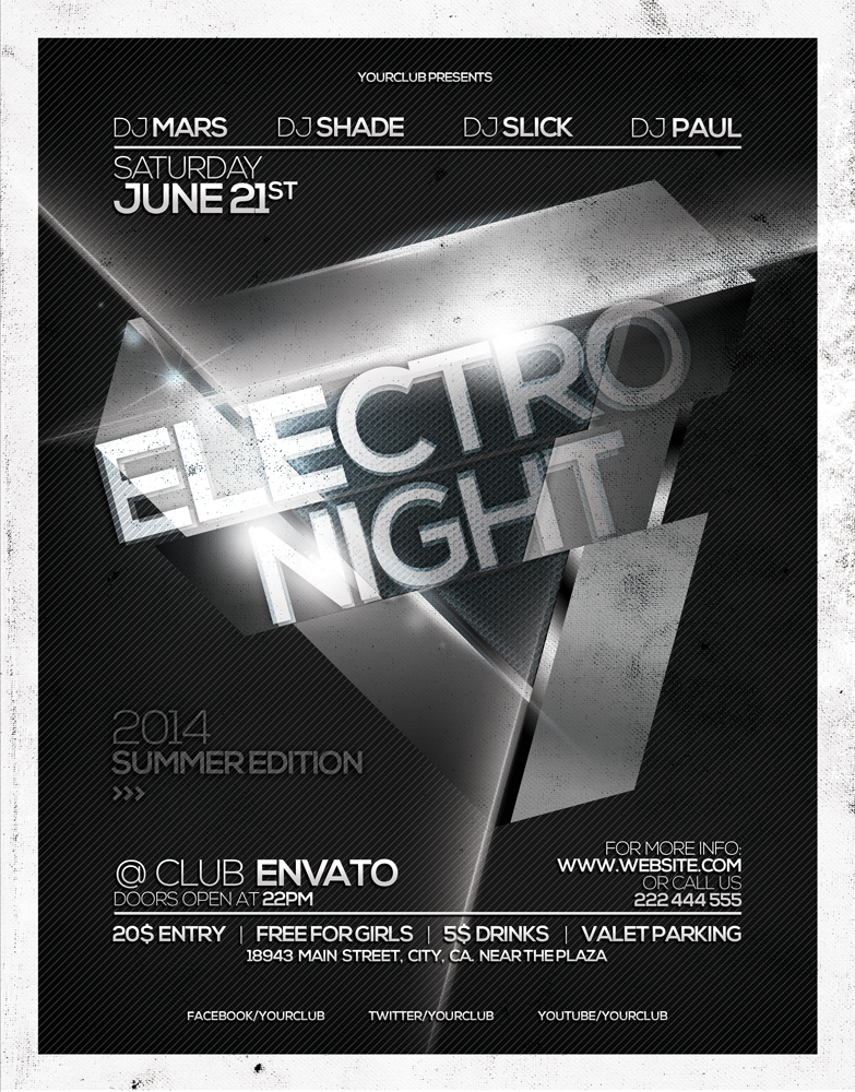 Electro Night Flyer Template