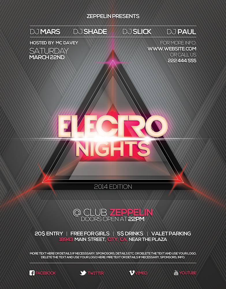 Electro Nights Vol.2 Flyer