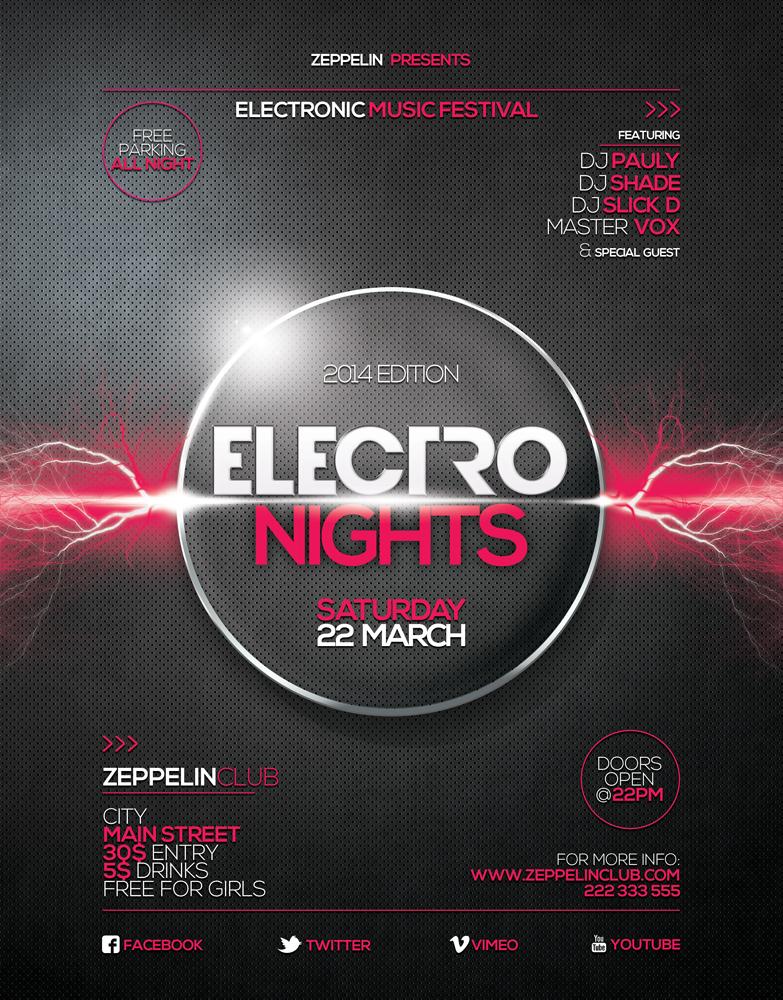 Electro Nights flyer 1