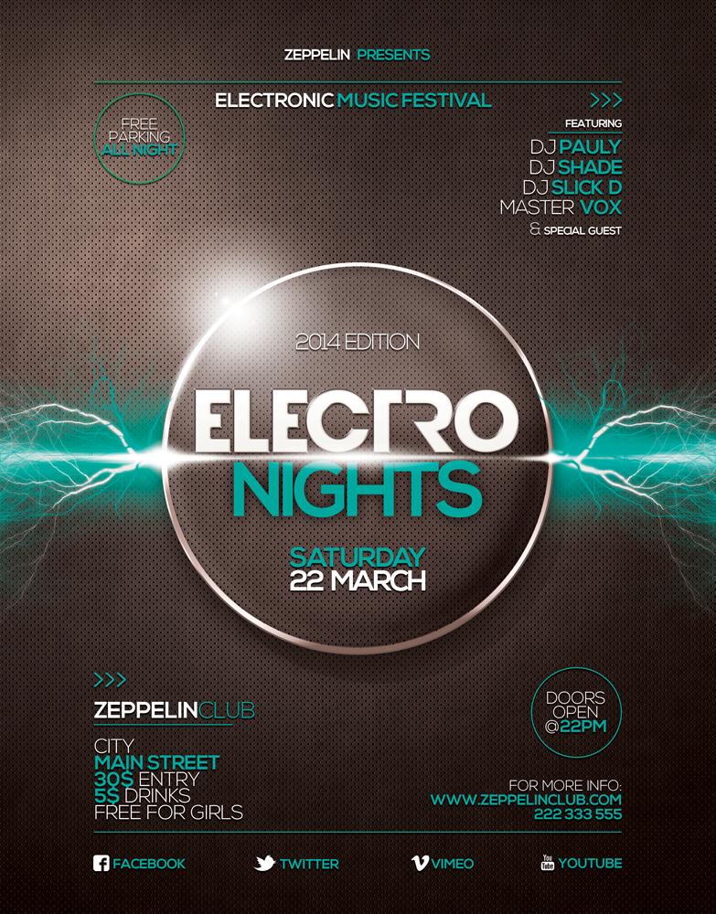 Electro Nights flyer 2