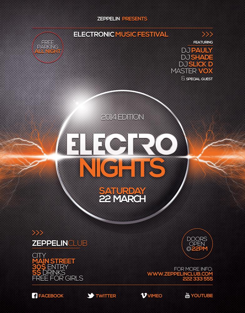 Electro Nights flyer 3