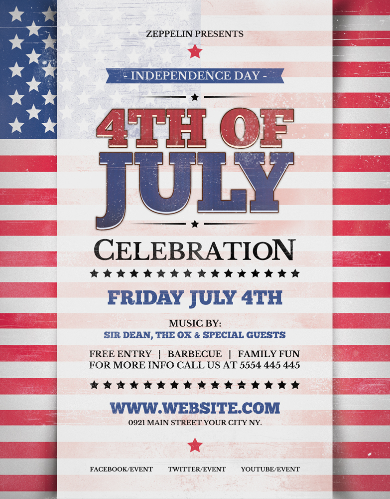 Fouth Of July Flyer Template
