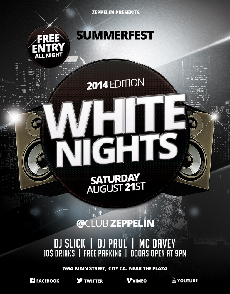 White Party Flyer 2